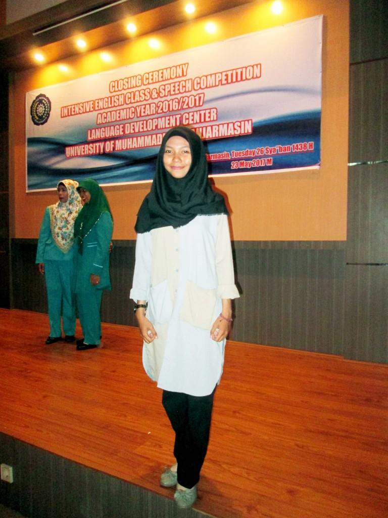 Hijjati Apriarahmah, mahasiswi Program Studi Perencanaan Wilayah dan Kota (PWK), Fakultas Teknik Universitas Muhammadiyah Banjarmasin